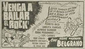1957 - VENGA A BAILAR EL ROCK - Carlos Stevani - (EL LITORAL, Lunes 1 de  Abril de 1957) | Person, Event ticket